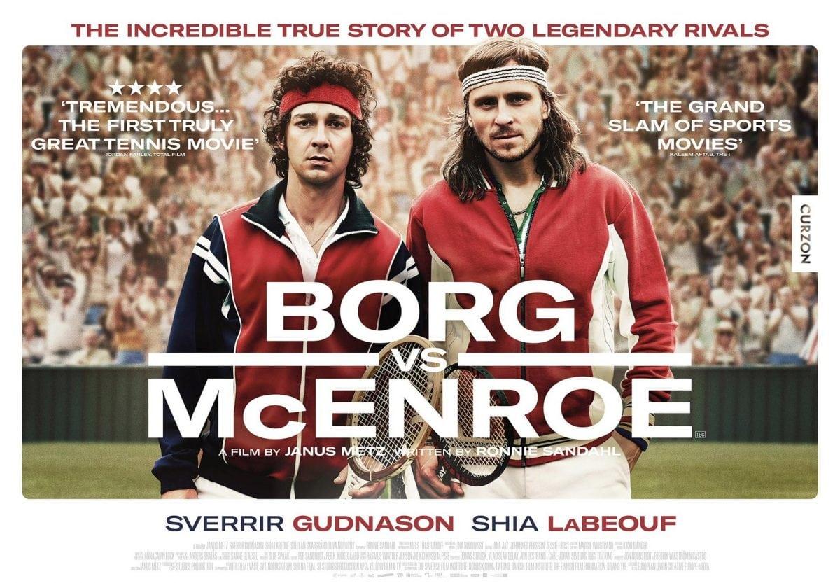 John McEnroe ve Björn Borg tenis film sinema