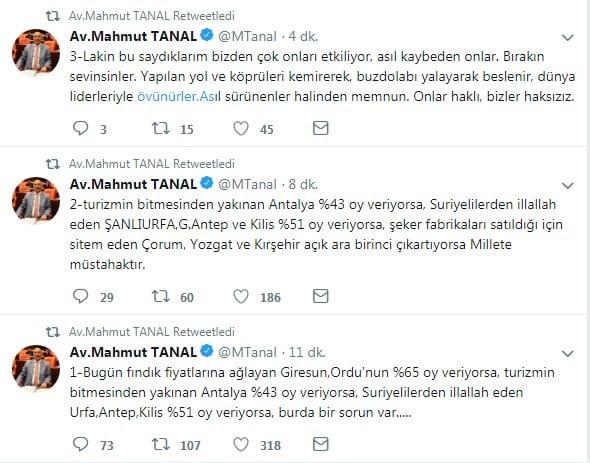 CHP'li Mahmut Tanal'ın Twitter'dan yaptığı açıklamalar millete müstahak