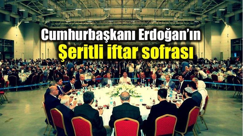 Cumhurbaşkanı Erdoğan şeritli iftar sofrası