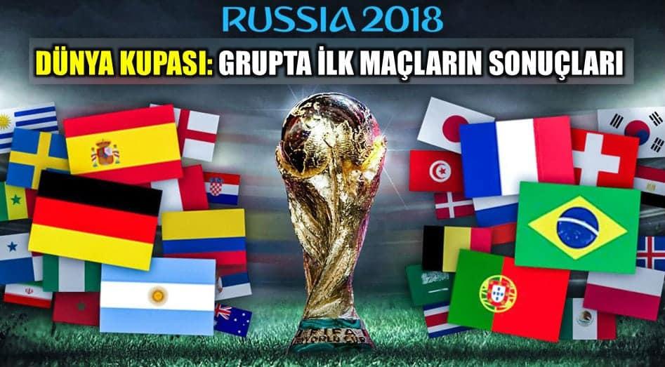 Dünya Kupası 2018: Grupta ilk maç sonuçları