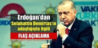 Erdoğan Selahattin Demirtaş cumhurbaşkanlığı adaylığı