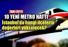 İstanbul'da 10 yeni metro hattı: Konut yatırımında hangi ilçelerin değeri yükselir?
