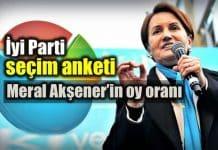iyi Parti seçim anketi: Meral Akşener oy oranı 24 haziran seçim