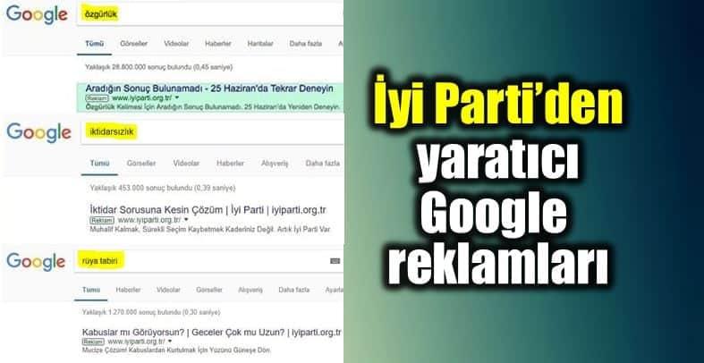 iyi Parti yaratıcı Google reklamları kampanyası