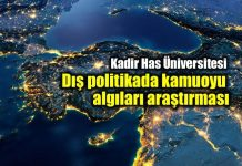 Kadir Has Üniversitesi 2018 dış politika kamuoyu algıları araştırması