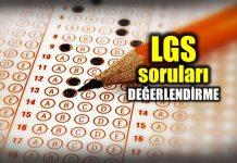 LGS soruları değerlendirmesi: Türkçe Sosyal Matematik Fen Din Kültürü İngilizce