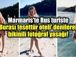 Marmaris Rus turiste burası tesettür oteli denilerek bikinili fotoğraf yasağı!