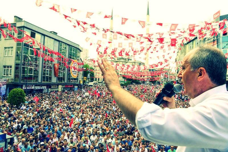Muharrem İnce'nin Bağcılar'da yaptığı İstanbul Mitingi