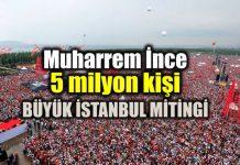 Muharrem ince: Maltepe 5 milyon kişi ile rekor - Büyük İstanbul Mitingi