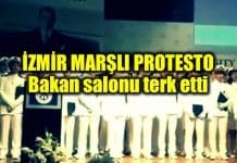 Piri Reis Üniversitesi mezuniyeti: İzmir Marşı söylendi, Bakan salonu terk etti