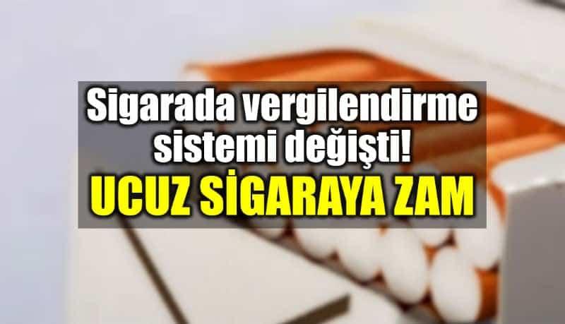Sigara vergilendirme sistemi değişti: Ucuz sigaraya zam geldi!