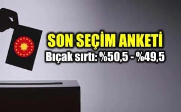 KONDA son seçim anketi: Erdoğan ve İnce oy oranları