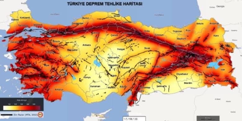 Türkiye deprem haritası güncel en son depremler