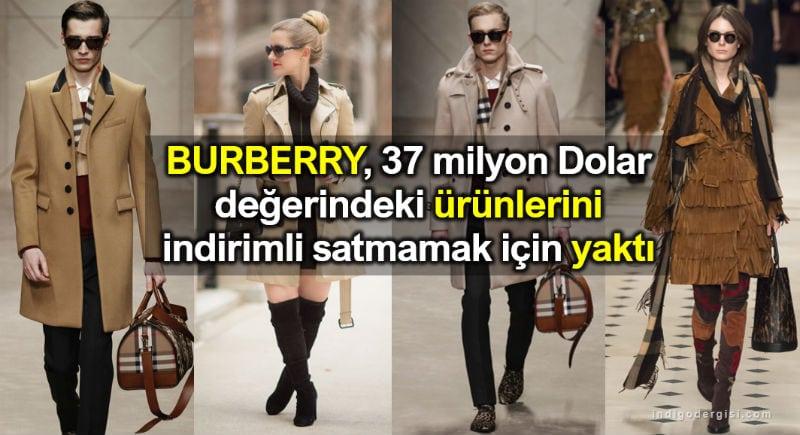 Burberry, ürünlerini indirimli satmamak için yaktı