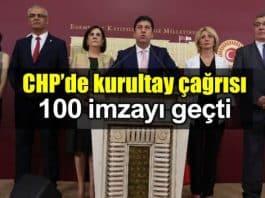 CHP olağanüstü kurultay çağrısı: Delegeler imza toplamaya başladı