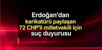 Erdoğan tayyipler alemi karikatürü paylaşan 72 CHP milletvekili için suç duyurusu
