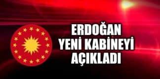 erdoğan yeni kabine bakanlar