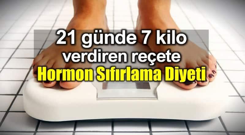 Hormon Sıfırlama Diyeti 21 günde 7 kilo verdiriyor!