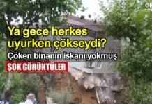 istanbul Sütlüce çöken bina iskanı yok video