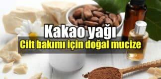 Kakao Yağı cilt bakımı için doğal mucize