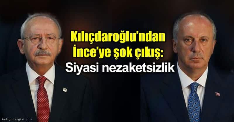 Kemal Kılıçdaroğlu Muharrem ince Siyasi nezaketsizlik