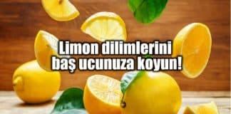 Limon dilimlerini yatarken baş ucunuza koyun!