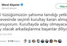 Meral Akşener istifa ettiğini açıkladı: Kurultayda aday olmayacak
