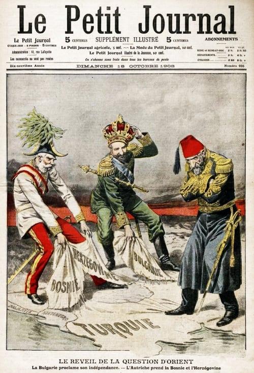 Reval Görüşmeleri'ne tepkisiz kalan II.Abdülhamid'i hicveden bir dergi kapağı