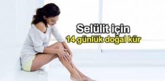 Selülit tedavisi için 14 günlük doğal kür tarifi