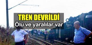 Tekirdağ Çorlu yakınlarında tren devrildi: Ölü ve yaralılar var