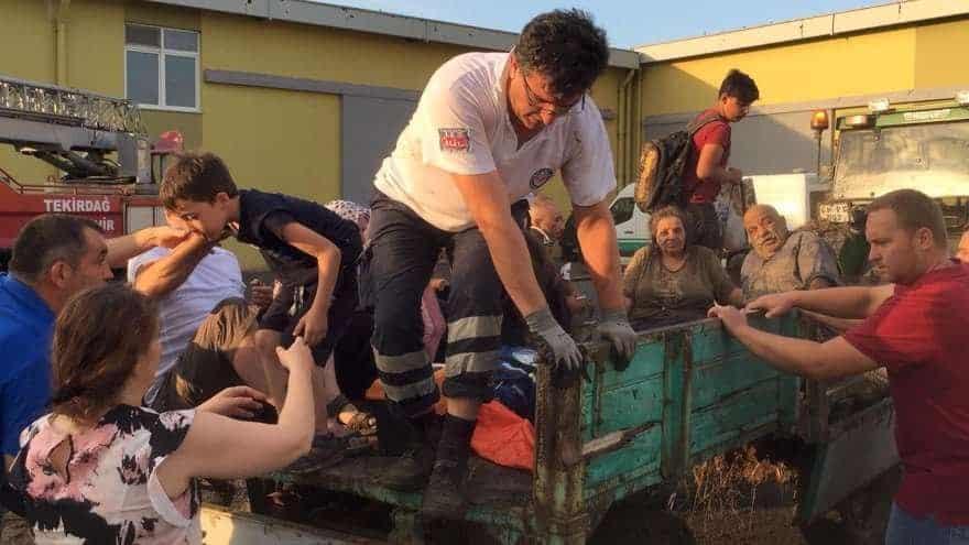tekirdağ çorlu tren kazasının kahramanları traktör köylü