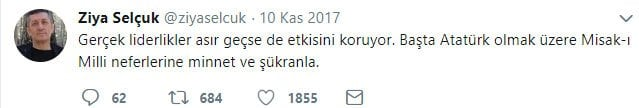milli eğitim bakanı ziya selçuk twitter paylaşımları