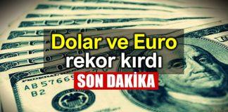 Dolar TL ve Euro TL rekor kırdı: Dolar 5 e tırmanıyor!