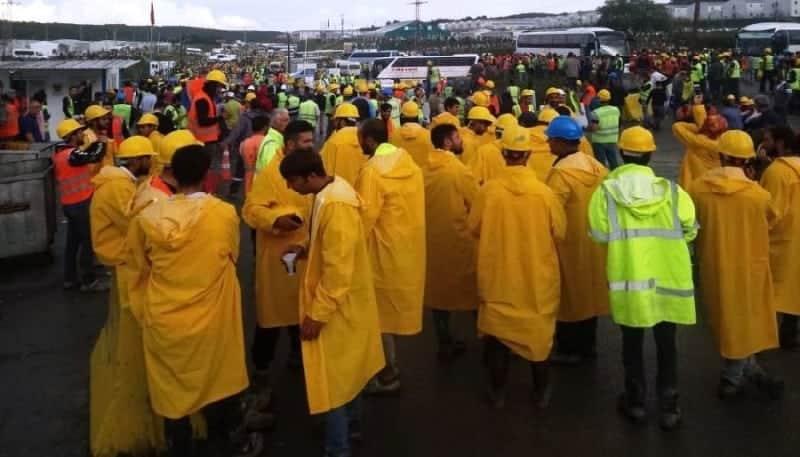 3. Havalimanı inşaatında eylem yapan çok sayıda işçi gözaltına alındı