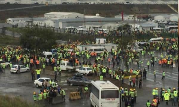 3. Havalimanı inşaatında işçilere biber gazlı müdahale