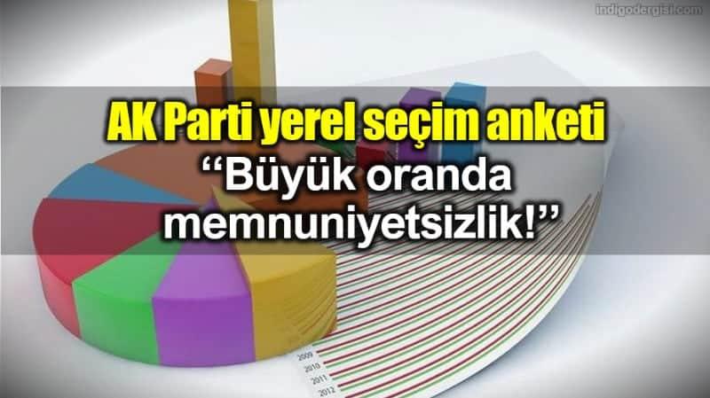 AK Parti yerel seçim anketi: Büyük oranda memnuniyetsizlik