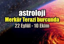 Astroloji: Merkür Terazi burcunda 22 Eylül - 10 Ekim