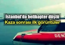 İstanbul Bostancı Maltepe açıklarında helikopter düştü otokar ismet özgür halil ünver