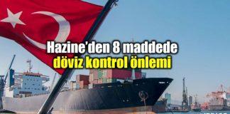 Hazine ve Maliye Bakanlığı 8 maddede döviz kontrol önlemi