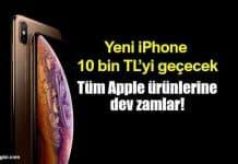 iPhone XS tanıtıldı: Türkiye tüm Apple fiyatlarına zam geldi!