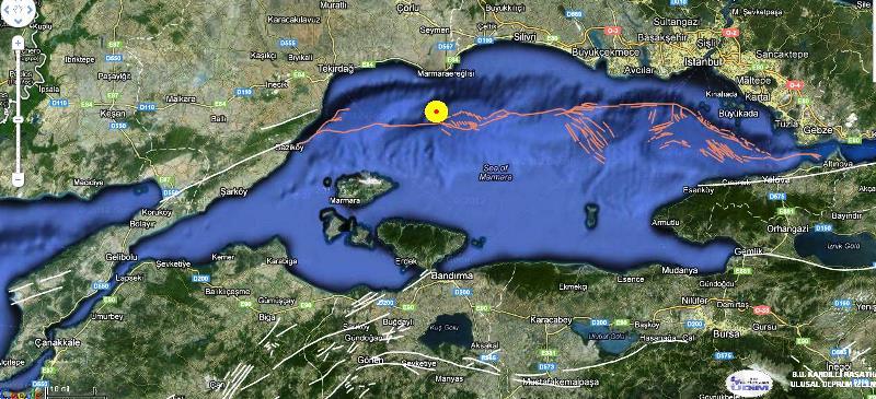 marmara deprem fay hatları