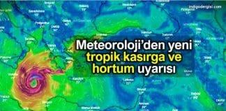 Meteoroloji tropik kasırga ve hortum uyarısı