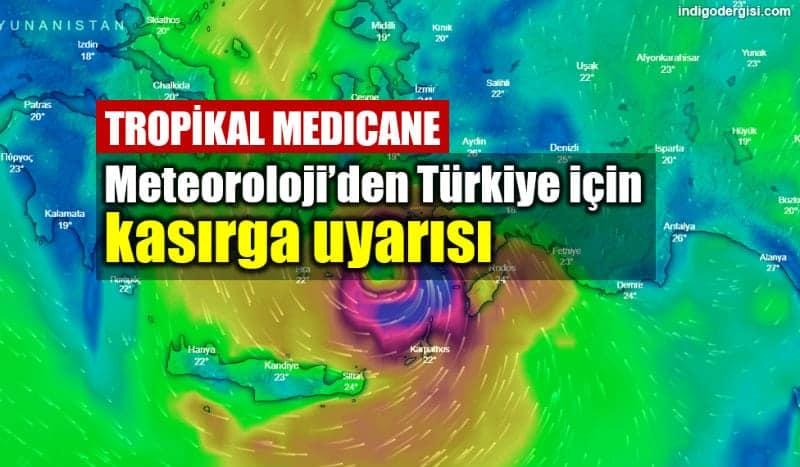 Meteoroloji Türkiye ege için kasırga uyarısı: Tropikal Medicane