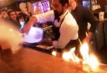Nusret alev şovunda müşteriler yandı: Biri ağır 5 yaralı