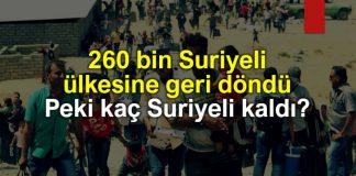 260 bin Suriyeli ülkesine geri döndü: Peki kaç Suriyeli kaldı?