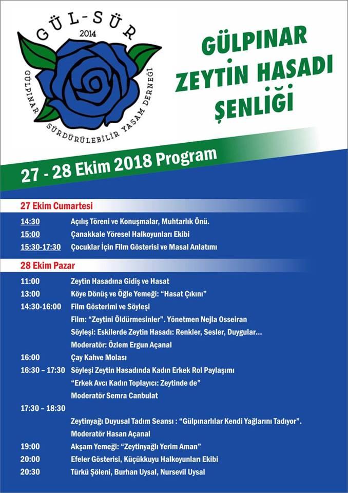Zeytinin önemi Gülpınar Zeytin Şenliği ile pekişecek program takvim