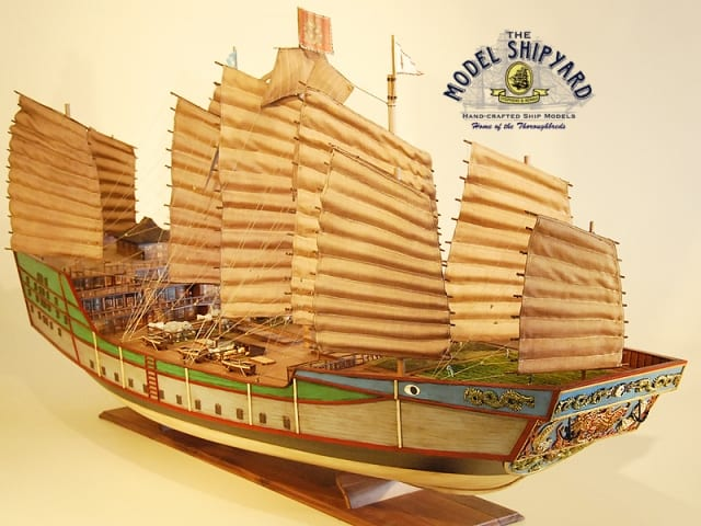 Zheng He model ship yard china