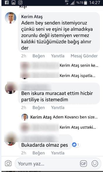 AK Parti Bozyazı İlçe Başkanı Kerim Ataş işkur skandalı