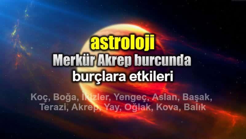 Astroloji Merkür Akrep Burcunda 10 31 Ekim Burç Yorumları