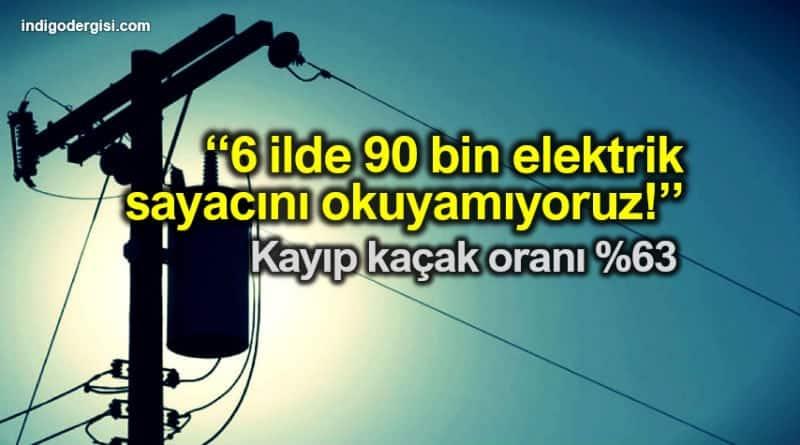 DEDAŞ: 6 ilde 90 bin elektrik sayacını okuyamıyoruz. Kayıp kaçak oranı yüzde 63 seviyesinde.